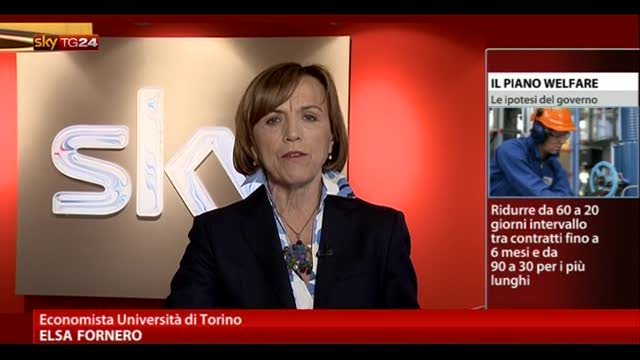 """Fornero a Sky TG24: """"Non esistono riforme perfette"""""""
