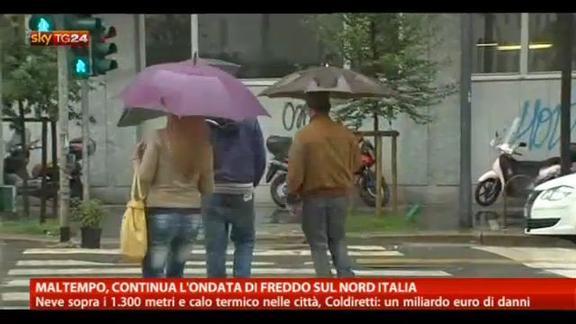 Maltempo, continua l'ondata di freddo sul nord Italia