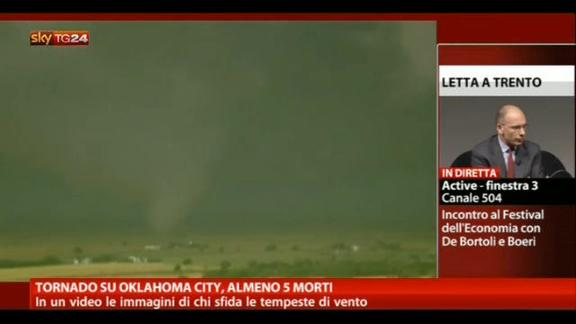 Tornado su Oklahoma city, almeno 5 morti