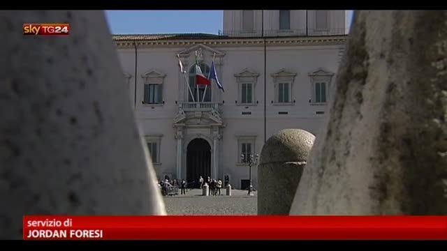 Napolitano: crisi non ci piega, ora ci vuole sforzo comune