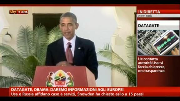Datagate, Obama: daremo informazioni agli europei