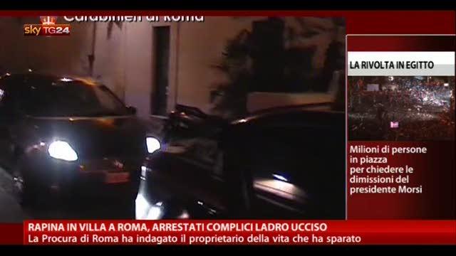Rapina in villa a Roma, arrestati complici del ladro ucciso