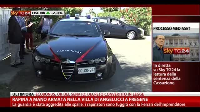 Rapina a mano armata nella villa di Angelucci a Fregene