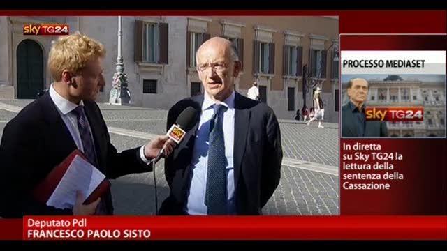 Sentenza Mediaset, le parole di Francesco Paolo Sisto (PDL)