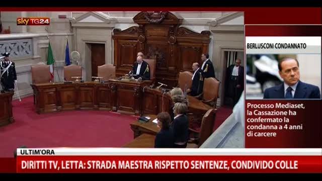 Sentenza Mediaset, le parole di Antonio Di Pietro (IDV)