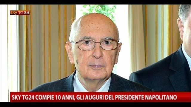 Sky TG24 compie 10 anni,gli auguri del Presidente Napolitano