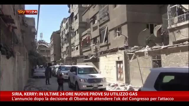 Siria, Kerry:nelle ultime 24 ore nuove prove su utilizzo gas