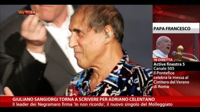Giuliano Sangiorgi torna a scrivere per Adriano Celentano