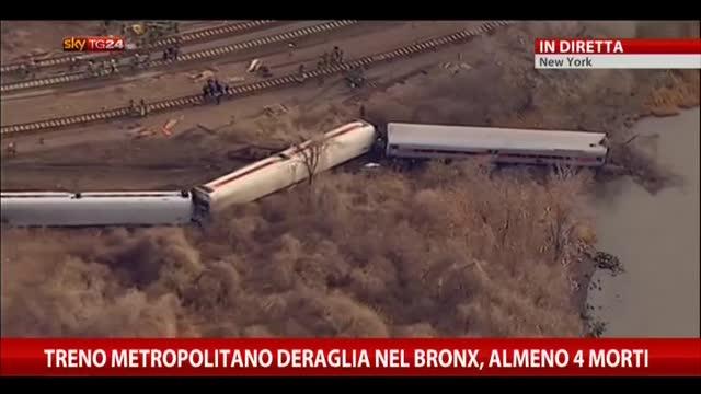 New York, Metro deraglia nel Bronx: bilancio sale a 4 morti