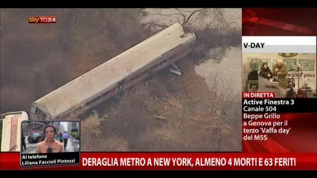 Deraglia metro NY, almeno 4 morti e 63 feriti