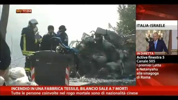 Prato, incendio in una fabbrica: 7 morti