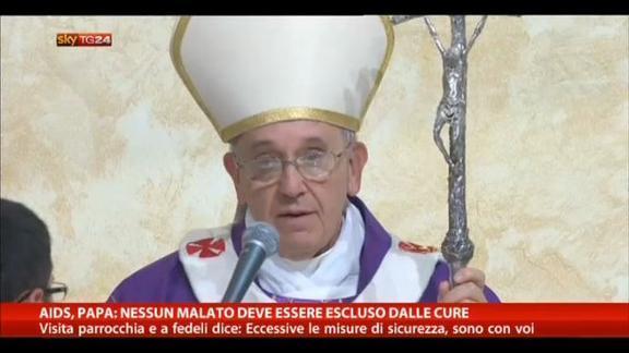 Aids, Papa: nessun malato deve essere escluso dalle cure
