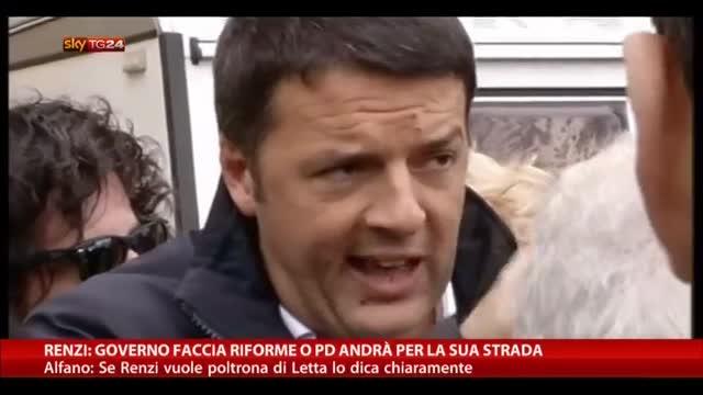 Riforme, lavoro ed Europa: Renzi lancia l'ultimatum a Letta