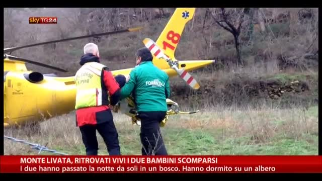 Monte Livata, ritrovati vivi i due bambini scomparsi
