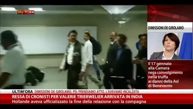 Ressa di cronisti per Valerie Trierwelier arrivata in India