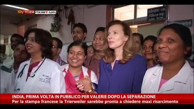 India, prima volta in pubblico per Valerie dopo separazione