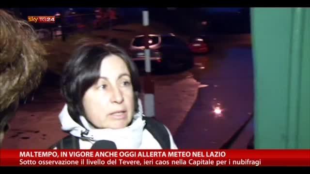 Maltempo, in vigore anche oggi allerta meteo nel Lazio