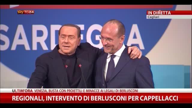 Regionali Sardegna, intervento di Berlusconi per Cappellacci