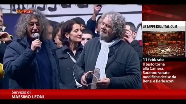 M5s, Grillo: vogliono annullare opposizione democratica