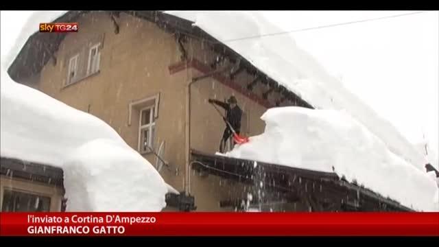 Maltempo, nevicate eccezionali sulle Dolomiti