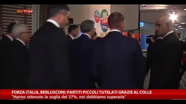 FI, Berlusconi: partiti piccoli tutelati grazie al Colle