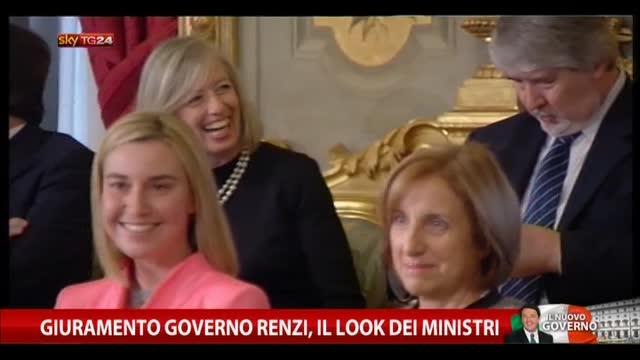 Giuramento governo Renzi, il look dei ministri