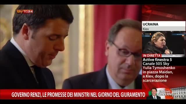 Governo Renzi, le promesse dei ministri