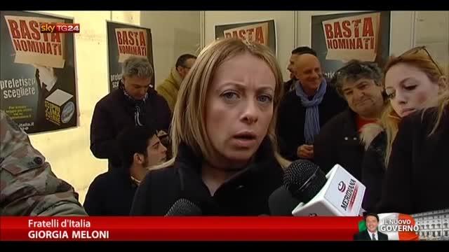 Meloni: nessuna discontinuità tra Letta e Renzi