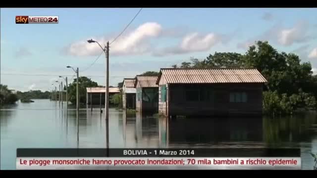 Bolivia, inondazioni: 70 mila bambini a rischio epidemia
