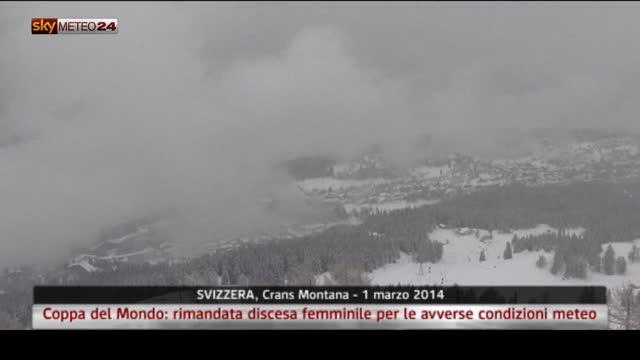 Svizzera, Coppa del Mondo: rimandata discesa femminile