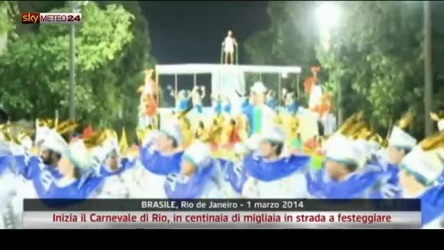 Brasile, Inizia il Carnevale di Rio