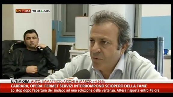 Carrara, operai Fermet Servizi interrompono sciopero fame