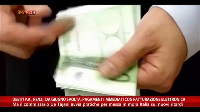 Debiti PA, Renzi: da giugno svolta