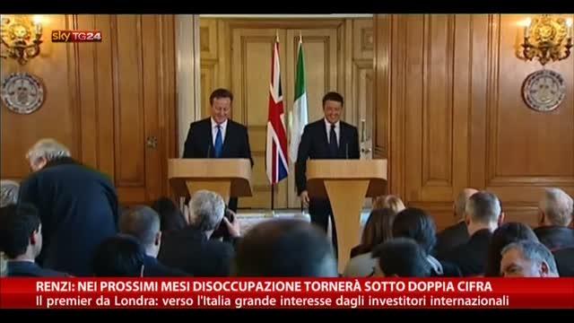 Renzi: nei prossimi mesi disoccupazione sotto doppia cifra