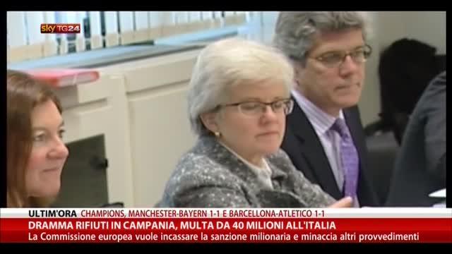 Dramma rifiuti in Campania, multa da 40 milioni all'Italia