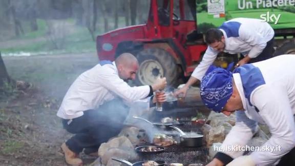 Gita in montagna con grigliata