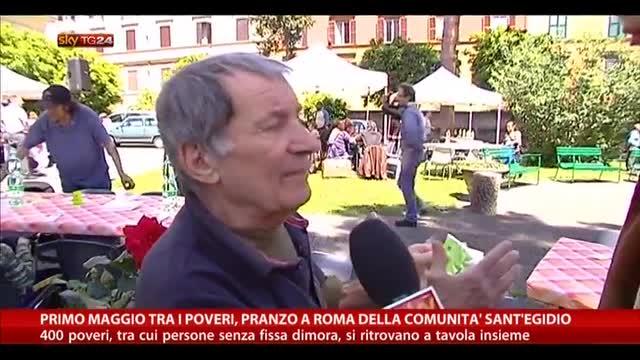 1° maggio tra i poveri, pranzo della comunità Sant'Egidio