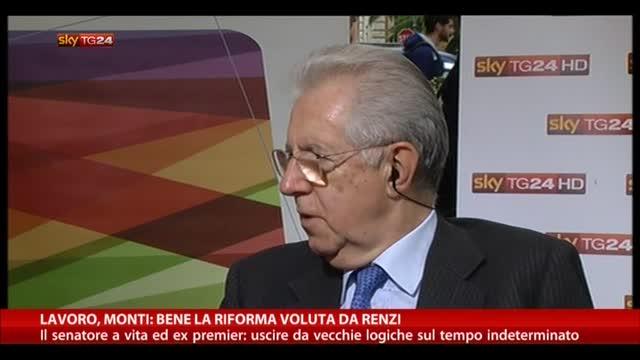 Lavoro, Monti: bene la riforma voluta da Renzi