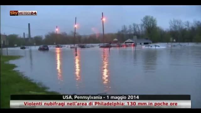 USA, violenti nubifragi nell'area di Philadelphia. Video