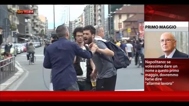 1° maggio, scontri a Torino tra manifestanti e agenti
