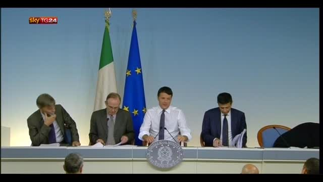 "Economia, Renzi: ""Nessuna stangata in arrivo"""