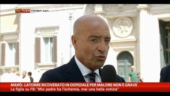 Marò, Latorre ricoverato in ospedale per malore: non grave