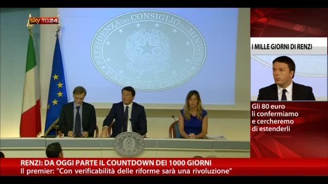 Renzi: da oggi parte il countdown del 1000 giorni