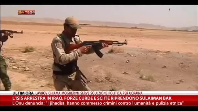Iraq, forze curde e sciite riprendono Sulaiman Bak