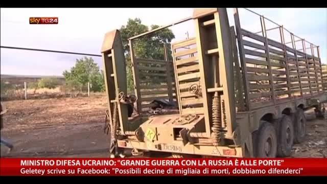 Min. difesa ucraino: grande guerra con Russia è alle porte