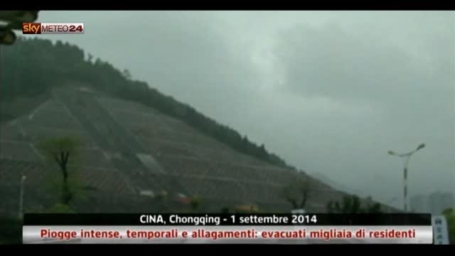 Cina, temporali e allagamenti: evacuati residenti