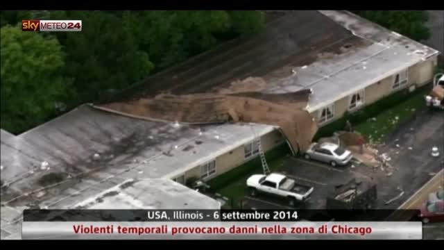 Violenti temporali provocano danni nella zona di Chicago