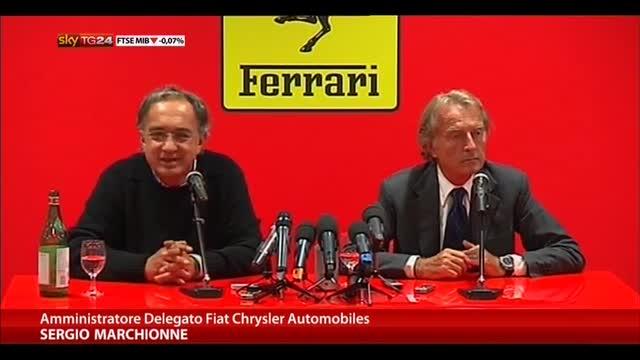 Marchionne: la Ferrari deve tornare a vincere in pista