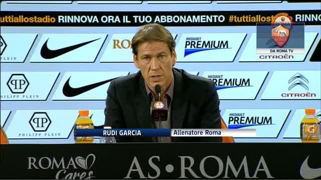 """Roma, Garcia: """"Per fortuna abbiamo una rosa ampia"""""""