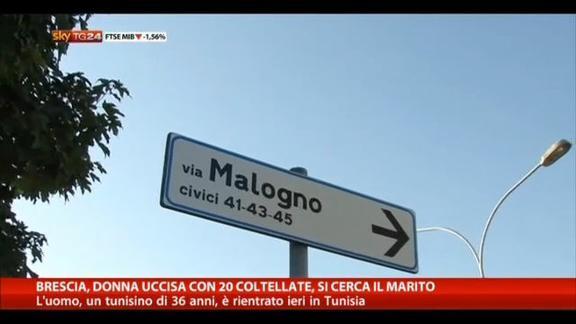 Brescia, donna uccisa con 20 coltellate, si cerca il marito